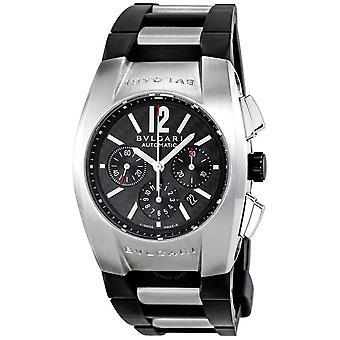 Bvlgari Ergon Black Pattern Rubber Men's Watch EG35BSVDCH