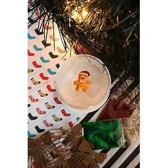 Conjunto de baba de brillo de envoltura navideña
