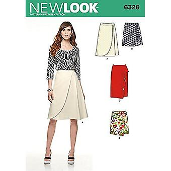 New Look Sewing Pattern 6326 Misses Mock Wrap Skirt Size 10-22