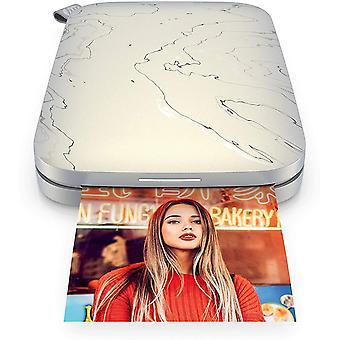 HanFei Sprocket Portable 5.8x8.7 cm Sofortbilddrucker (Wei) Drucken Sie Bilder auf Zink Sticky-Backed
