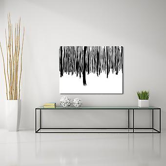 Mustavalkoinen metsäkangas