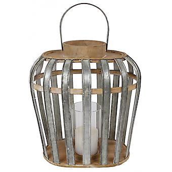 ضوء الرياح البيضاوي 32x22x35 سم الخشب / المعدن واضحة