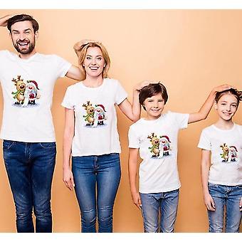Haine asortate pentru familia de Crăciun, tricou cu mânecă scurtă