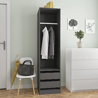 vidaXL armoire avec tiroirs Gris 50×50×200 cm Panneau de particules