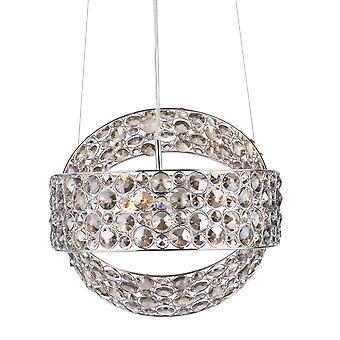 2 Ring Vedhæng Light poleret Chrome røget krystal, 3x G9