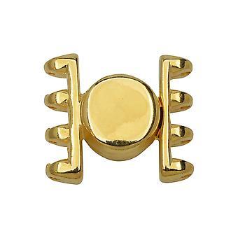 Cymbal magnetiske klapper for SuperDuo perler, Anteni, Runde 15.5x17.5mm, 1 Sett, 24k Gullbelagt