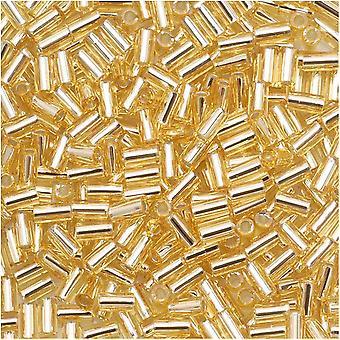توهو بوغل أنبوب الخرز الحجم #1 / 2x3mm الفضة اصطف Lt توباز 8 غرام