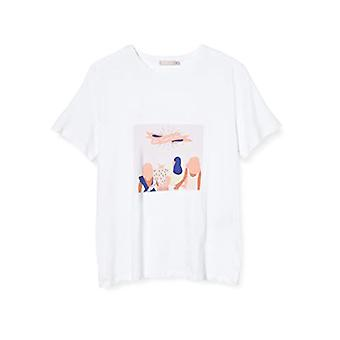 PIECES Pcgirly SS Tee Box D2d JIT T-Shirt, Bright White/Print: Girl Support, S Woman