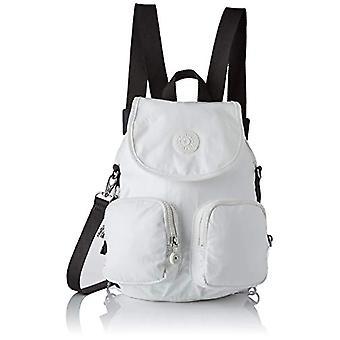 Kipling Firefly Up - Backpacks Woman, White Metallic, 22x31x14 cm