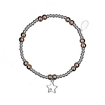Bracelet d'empilement d'espoir - 17.5cm - Or rose - Cadeaux de bijoux pour femmes de Lu Bella