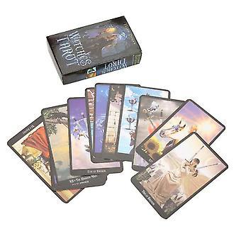 1Box78 Karten Hexe Tarot Deck Zukunft Schicksal Indikator Vorhersage Karten Tischspiel| Praktische Witze