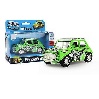 سيارة خضراء مصغرة سحب سيارة انزلاق سبيكة، نموذج سيارة محاكاة مع يمكن فتح الباب az9085