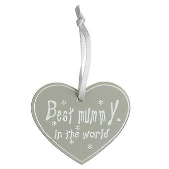 'Best Mummy in the World' Hanging Sign by Heaven Sends