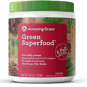 مذهلة العشب الأخضر سوبرفوود مسحوق الشراب بيري، 8.5 أوقية