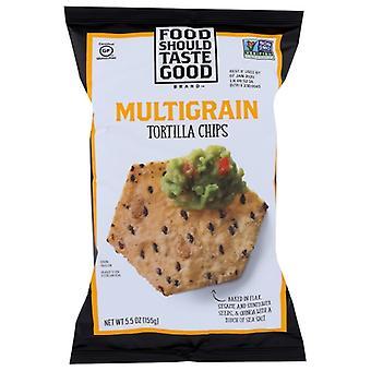 Eten moet goede chip tortla multigrn smaken, geval van 12 x 5,5 oz