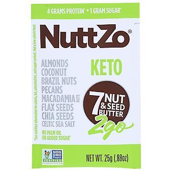Nuttzo Nut Butter كيتو, حالة 10 X 0.88 Oz