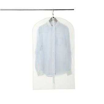 6 Pack Set Clear Garment Stand For Dress Set, Suits, Coat Cover Protector Travel Zip Bag