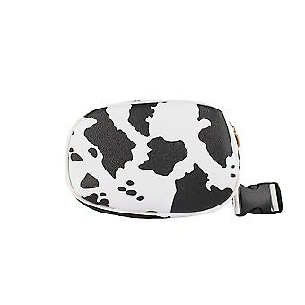 Round Bum Bag With Print Of Cow