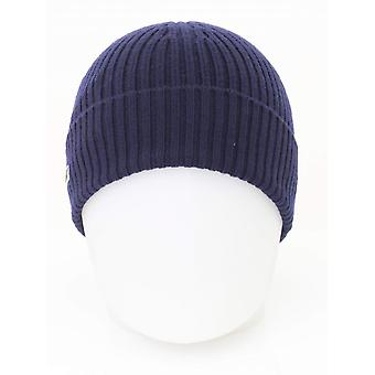 Lacoste Knitted Logo Beanie - Navy