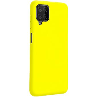 Back cover Samsung Galaxy A12 Semi-Rigid Silicone Soft-Touch Finish yellow
