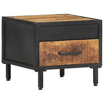 vidaXL ベッドサイドテーブル 40x40x35 cm ラフマンゴーウッド