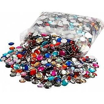 3600 assorted granel rodada strass | Diamante pedras preciosas enfeites