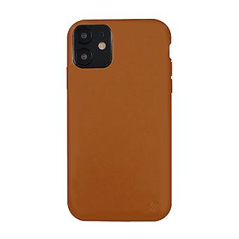 Eco friendly leather brown iphone 12 case