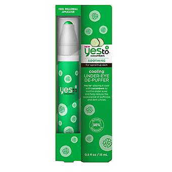 Yes to Cucumbers Cooling Under Eye DePuffer 15ml Reduce Dark Circles and Soothe