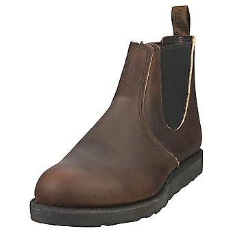 Red Wing 6-inch Classic Mens Chelsea Boots in Ebony Leather
