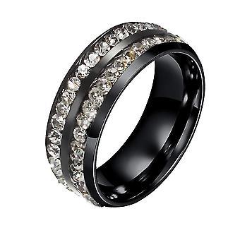 Punk vrouwelijke metalen titanium ring