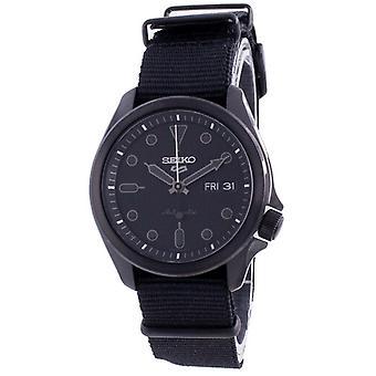 Seiko 5 Спорт Черный Циферблат Нейлоновый ремешок Автоматический Srpe69 Srpe69k1 Srpe69k 100m Мужские часы