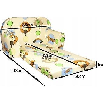 Kinder slaapbank - sofa - bruin - logeermatras - 85 x 60 - cars