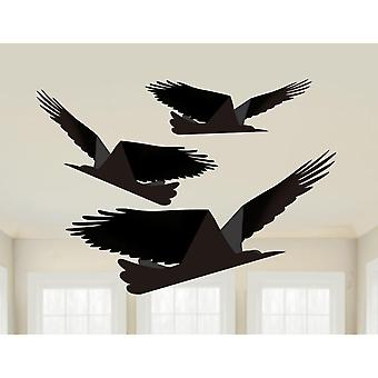 Amscan Boneshine Fever Paper Raven Decoración