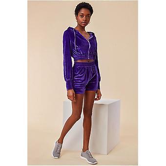 Sudadera con capucha Cosmochic Velour & Short Set - Púrpura