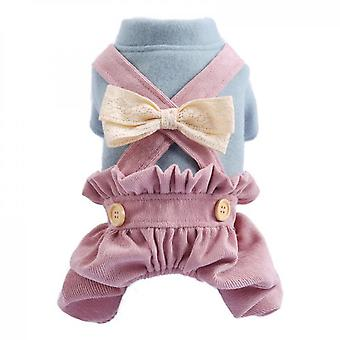 Bowknot Small Dog Bloomers Pink