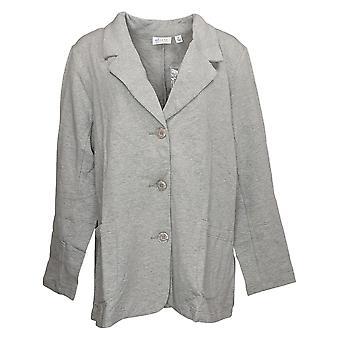 Denim & Co. Veste du du down jacket bouton femme Gris A230862