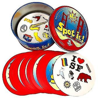Card games 8+ dobble spot it cards game with animals  alphabets and numbers o