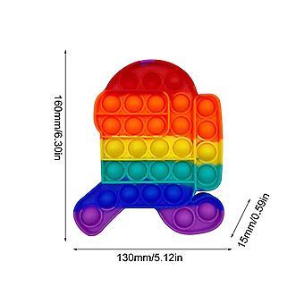 3+ Unter Bubble Pop es sensorisches Zappeln Spielzeug für Stressabbau und Anti-Angst (P)