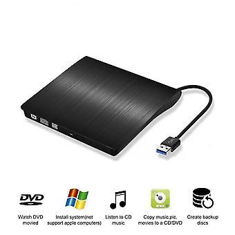 External Usb 3.0 Ultra Slim Portable External Cd Dvd Drive/ Player / Burner Writer/ Reader For Windows / Mac Os
