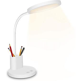 LED bordlampe, berøringskonsolllampe 3 fargemoduser, trinnløs dimming, 360 fleksibel