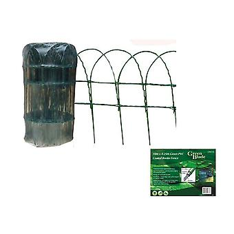 10m X 0.25m Green PVC Coated Border Fence Garden Edging Fencing Net