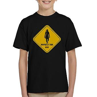 Winter At Your Own Risk White Walkers Game Of Thrones Kid's T-Shirt