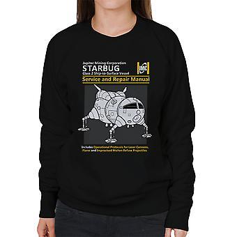 Rode dwerg Starbug Service en reparatie handleiding vrouwen Sweatshirt