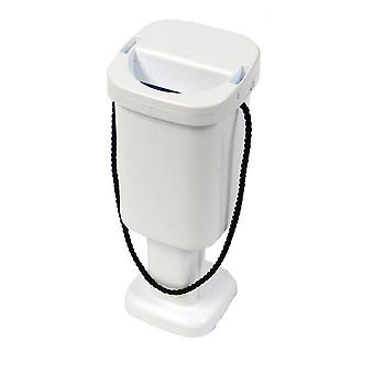 Square Charity Money Collection Box - White