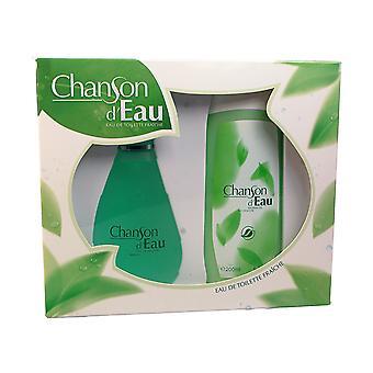 Coty Chanson d'Eau Gift Set 100ml EDT + 15ml EDT + 200ml Shower Gel