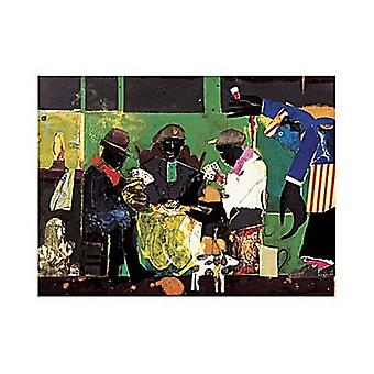 Card Players 1982 Poster Print by Romare Bearden (14 x 11)