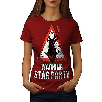 Warning Party Funny Women RedT-shirt | Wellcoda