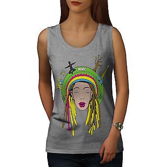 Pokój 42 Stoner Rasta kobiet GreyTank góry | Wellcoda