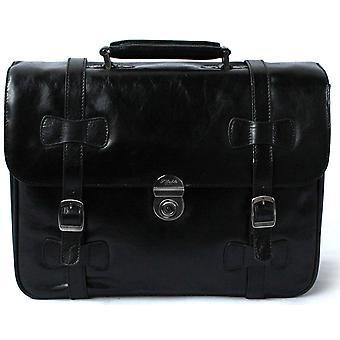S Babila pelle Executive cartella Business lavoro caso Vinatge Style Satchel Shoulder Bag