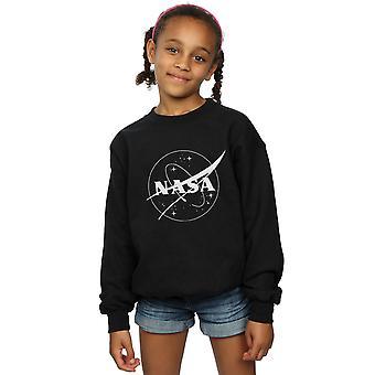 NASA Girls Classic Insignia Logo Monochrome Sweatshirt